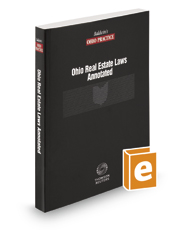 Ohio Real Estate Laws Annotated, 2017 ed.