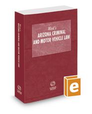 West's Arizona Criminal and Motor Vehicle Law, 2020 ed.