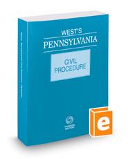 West's® Pennsylvania Civil Procedure, 2016 ed.