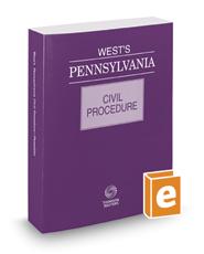 West's® Pennsylvania Civil Procedure, 2017 ed.
