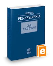 West's® Pennsylvania Civil Procedure, 2018 ed.