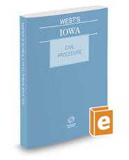 West's Iowa Civil Procedure, 2017 ed.