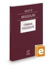 West's® Missouri Criminal Procedure, 2021 ed.