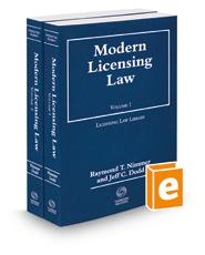 Modern Licensing Law, 2017-2018 ed.