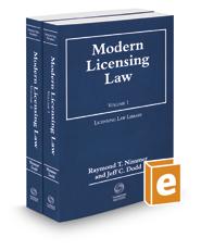 Modern Licensing Law, 2019-2020 ed.