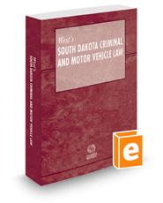 West's South Dakota Criminal and Motor Vehicle Law, 2016 ed.