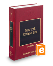 New York Contract Law (Vol. 28, New York Practice Series)