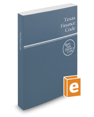 Texas Finance Code, 2020 ed. (West's® Texas Statutes and Codes)