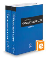 California Government Code, 2019 ed. (California Desktop Codes)