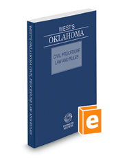 West's Oklahoma Civil Procedure Law and Rules, 2019 ed.