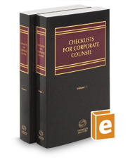 Checklists for Corporate Counsel, 2019 ed.