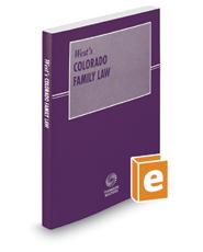 Colorado Family Law, 2018 ed.