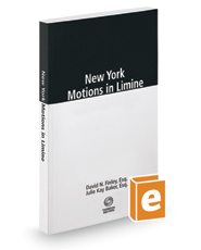 New York Motions in Limine, 2017 ed.
