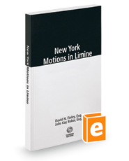 New York Motions in Limine, 2018 ed.