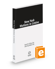 New York Motions in Limine, 2021 ed.