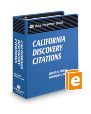 California Discovery Citations (The Rutter Group Civil Litigation Series)