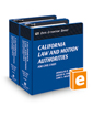 California Law and Motion Authorities for Civil Cases (The Rutter Group Civil Litigation Series)