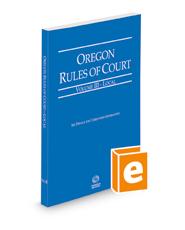 Oregon Rules of Court - Local, 2021 ed. (Vol. III, Oregon Court Rules)