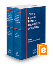 West's Code of Federal Regulations Annotated Title 8, Aliens and Nationality, 2018 ed.