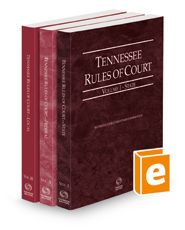 Tennessee Rules of Court - State, Federal, and Local, 2021 ed.  (Vols. I-III, Tennessee Court Rules)