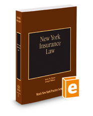 New York Insurance Law, 2017-2018 ed. (Vol. 31, New York Practice Series)
