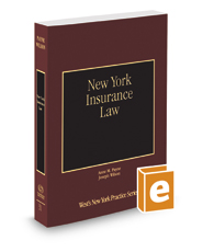 New York Insurance Law, 2018-2019 ed. (Vol. 31, New York Practice Series)