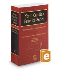North Carolina Construction Law, 2019 ed. (North Carolina Practice Series)
