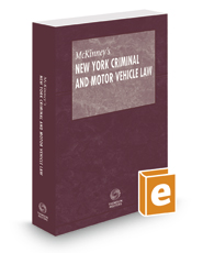 McKinney's New York Criminal and Motor Vehicle Law Pamphlet with CD-ROM, 2017 ed.