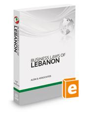 Business Laws Of Lebanon, 2014-2015 ed.