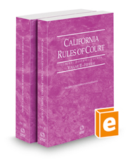 California Rules of Court - Federal District Courts and Federal Bankruptcy Courts, 2021 ed. (Vols. II & IIA, California Court Rules)