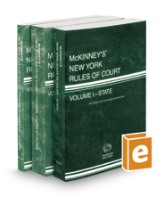 McKinney's New York Rules of Court - State, Federal District and Federal Bankruptcy, 2018 ed. (Vols. I-IIA, New York Court Rules)