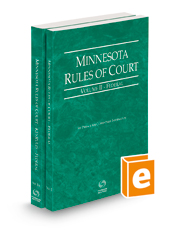 Minnesota Rules of Court - Federal and Federal KeyRules, 2021 ed. (Vols. II & IIA, Minnesota Court Rules)