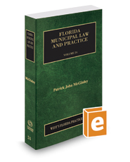 Florida Municipal Law and Practice, 2016-2017 ed. (Vol. 24, Florida Practice Series)