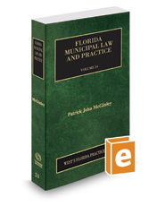 Florida Municipal Law and Practice, 2017-2018 ed. (Vol. 24, Florida Practice Series)