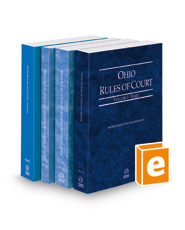 Ohio Rules of Court - State, Federal District, Federal Bankruptcy and Local, 2022 ed. (Vols. I, II, IIA & III, Ohio Court Rules)