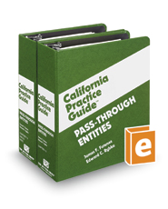 Pass-Through Entities (The Rutter Group California Practice Guide)