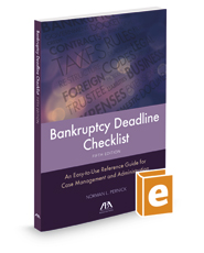Bankruptcy Deadline Checklist, 5th