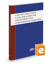 A Section White Paper: A Call for Action for Online Piracy and Counterfeiting Legislation
