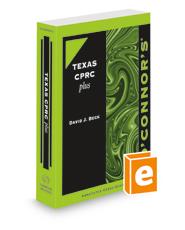 O'Connor's Texas CPRC Plus, 2021-2022 ed.