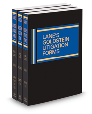 Lane's Goldstein Litigation Forms, 2015-2016 ed.
