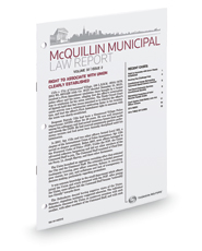 McQuillin Municipal Law Report