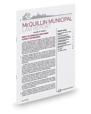 McQuillin Municipal Law Report