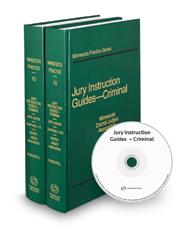 Jury Instruction Guides - Criminal, 6th (Vol. 10 & 10A, Minnesota Practice Series)