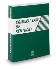 Criminal Law of Kentucky, 2016 ed.