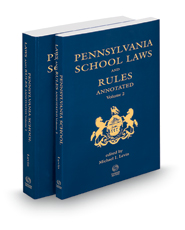 Pennsylvania School Laws & Rules Annotated, 2015-2016 ed.