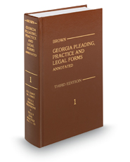 Browns Georgia Pleading Practice And Legal Solutions - Georgia legal forms