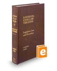 Legislative Law and Procedure, 2d (Vol. 20, Louisiana Civil Law Treatise Series)