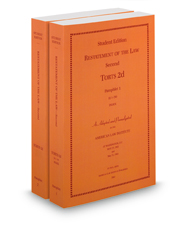 Restatement of the Law (2d) of Torts, softcover ed.