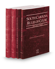 South Carolina Rules of Court - State, State KeyRules, Federal and Federal KeyRules, 2016 ed. (Vols. I-IIA, South Carolina Court Rules)