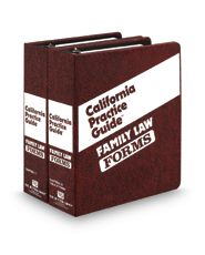 Family Law FORMS (The Rutter Group California Practice Guide)